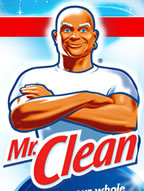 picture with Mr Clean