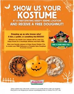 free-krispy-kreme doughnut halloween