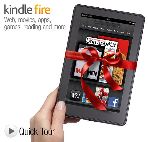 get Amazon Kindle Fire for christmas
