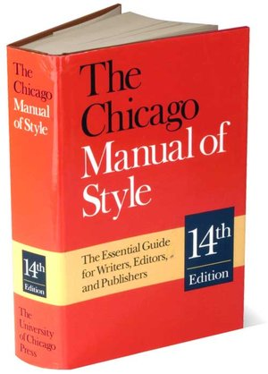 chicago manual of style book