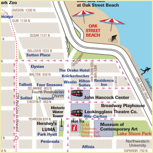 mag mile chicago map
