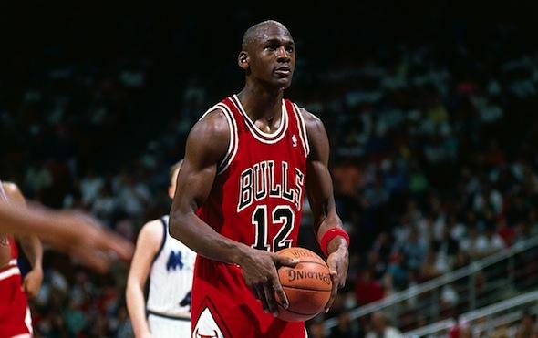 Michael Jordan wears #12