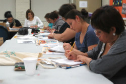 Adult Ed ESL class at work