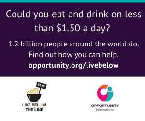 Opportunity International - Live Below the Line -2014