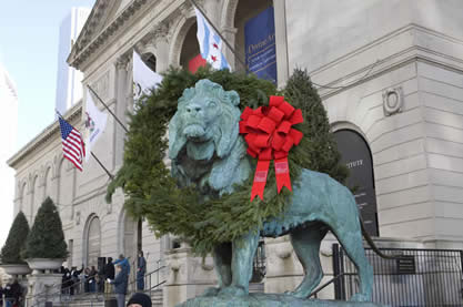 Christmas in Chicago WreathedLion