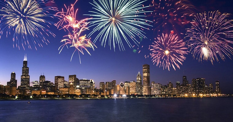 Chicago's fireworks