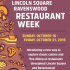 First Annual Lincoln Square Ravenswood Restaurant Week – Oct 16-21 in Chicago
