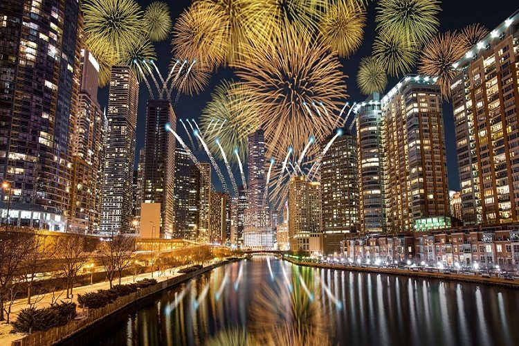 Chicago New Years Eve fireworks