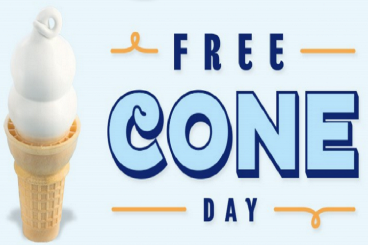 free dairy queen cone day