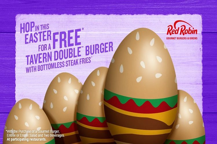 free easter red robin burger free easter red robin burger
