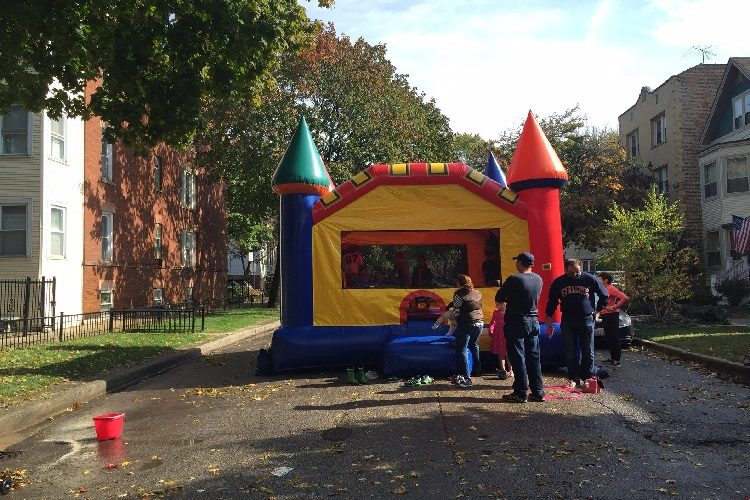 get a free bounce house for your block party
