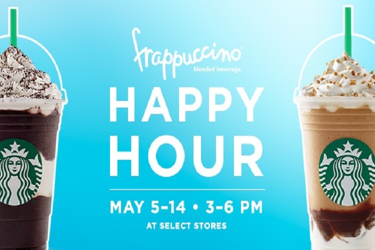 50% off starbucks frappucino-happy-hour