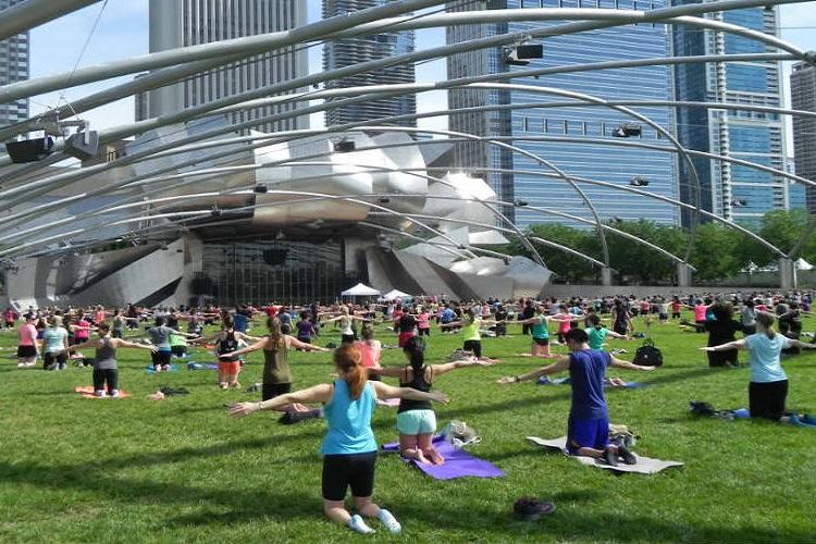 free summer workouts millennium park chicago 2
