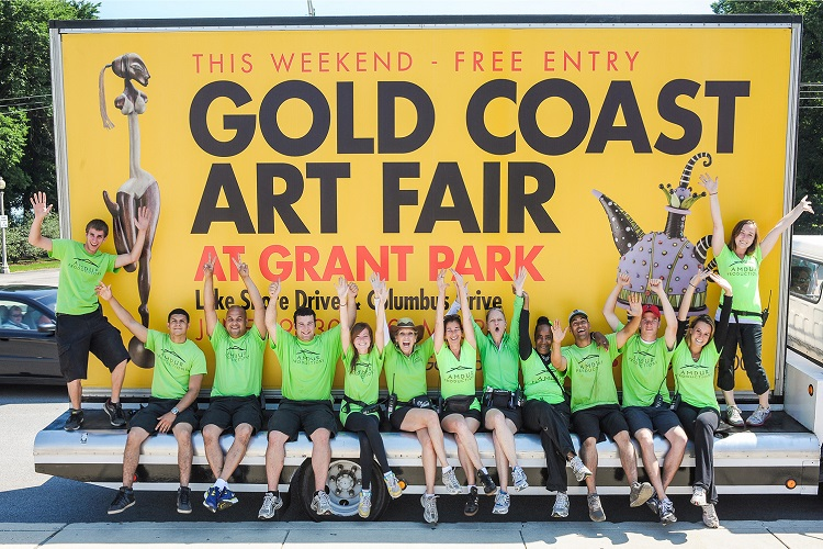 Chicago's gold coast art fair