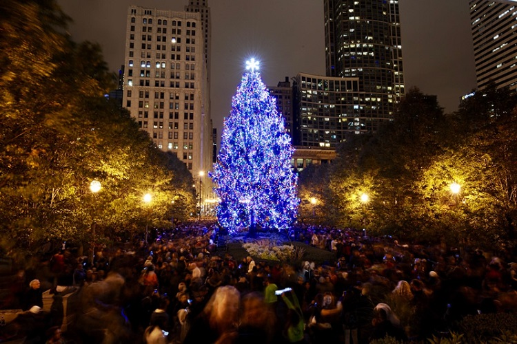 free chicago christmas tree lighting