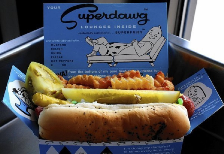 FREE hot dog from Superdawg 2