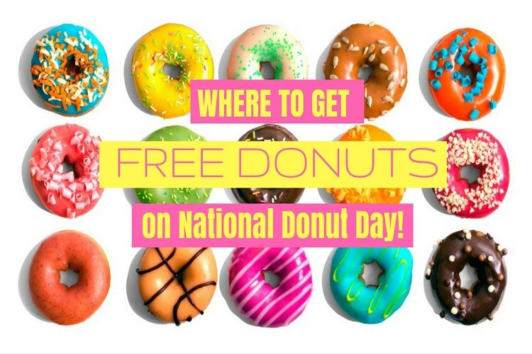 Free donuts on National Doughnut Day