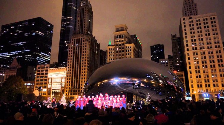 caroling at chicago bean