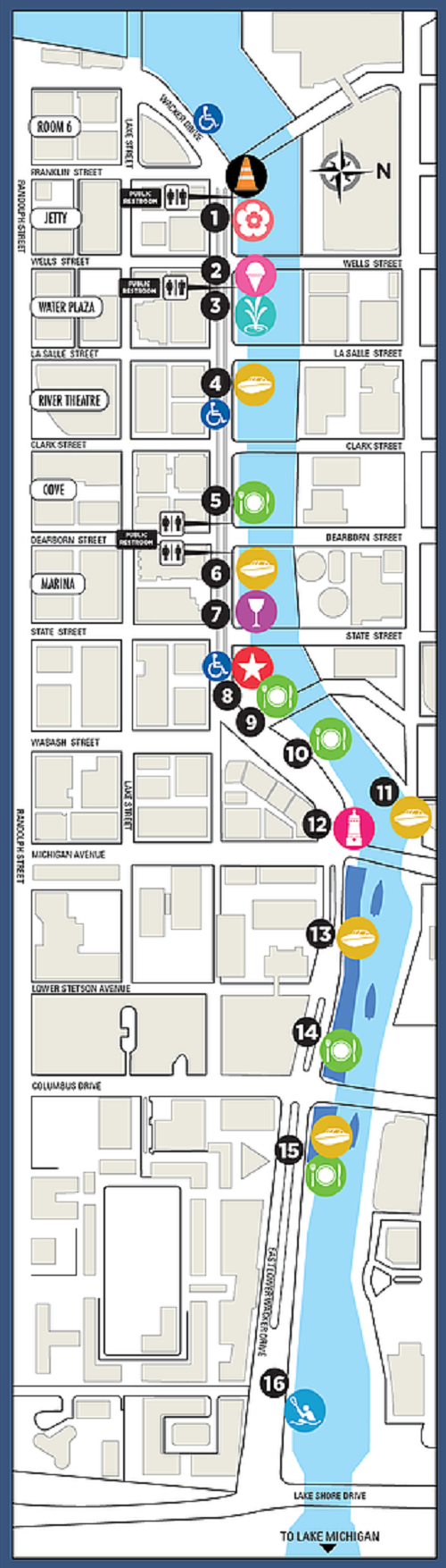 chicagoriverwalk map