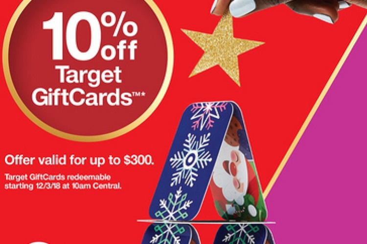 10 perent off target giftcards