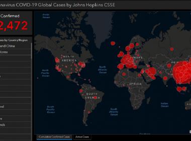 FREE coronavirus map 3-7-2020