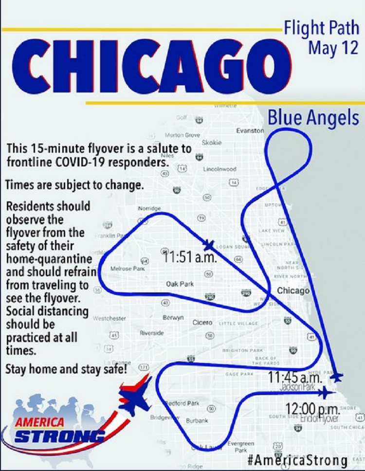 flight path of the Blue Angels
