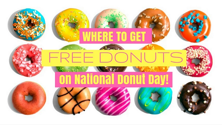 free donuts national donut day 750