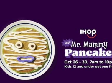 free pancakes-Mr.-Mummy-Ihop