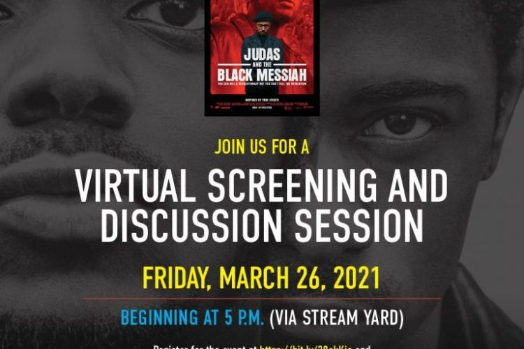 Free virtual screening of Judas and the Black Messiah a